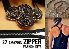 27 Amazing Zipper Fashion DIYs