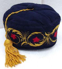 2b904d88207 Navy blue imperial smoking cap NEW Tasselled hat Male Dress