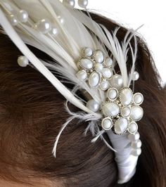 Gorgeous embellished headband #wedding #diy