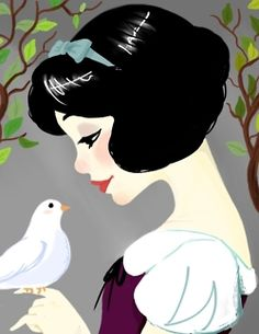 Snow White There is something I do and do not like about this style of coloring. It's simplicity appeals to me but then the harshness of the lines throws me off a bit.