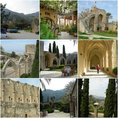 Bellapais Kyrenia North Cyprus, Paphos, Ancient Architecture, Barcelona Cathedral, Mount Rushmore, Mountains, Mansions, House Styles, Building