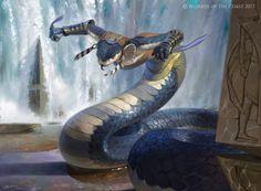 MtG Art: Tah-Crop Skirmisher from Amonkhet Set by Victor Adame Minguez - Art of Magic: the Gathering Fantasy Races, Fantasy Rpg, Fantasy Artwork, Dark Fantasy, Fantasy Monster, Monster Art, Magic The Gathering, Fantasy Creatures, Mythical Creatures