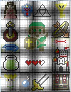 Ravelry: Free Legend of Zelda Charts pattern by Jessica Evans