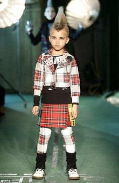And younger models seen on the catwalk aswell for Jean Paul Gautier. Love this so much, what a cutie