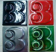 Heath ceramics: ceramic house numbers