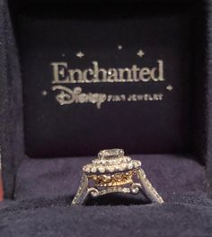 51fbc176dd36 Enchanted Disney Princess 1 CT. T.W. Diamond Double Frame Crown Engagement  Ring in 14K Two-Tone Gold