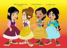 Disney Princess Hobbits 3 by *SapphireGamgee on deviantART