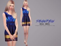 The Sims Resource: Delia – Dress by tangerinesimblr • Sims 4 Downloads