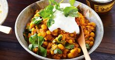 This traditional vegetarian lentil curry is a spicy combination of lentils and split peas.