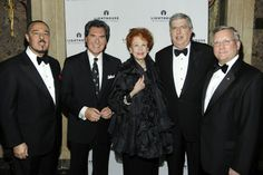 Lightyears Gala honoree and fragrance packaging designer Marc Rosen poses with WNYW-TV and Gala emcee, Ernie Anastos, fellow honorees, film ...