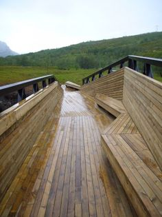 Lillefjord rest area & footbridge by Pushak in Norway. Click image for details via ArchDaily, and visit the Slow Ottawa 'Propel Yourself' board for more low-emission pleasures.