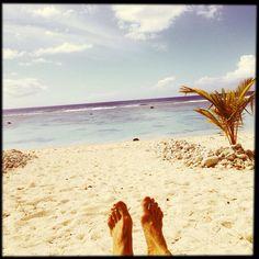 Rarotonga, Cook Islands, Near Black Rock The Reef Hotel