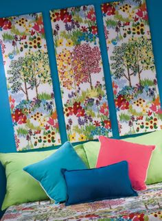 Ideas Diy Headboard Cheap Kids Head Boards For 2019 Diy Wand, Bedroom Canvas, Bedroom Art, Bedroom Ideas, Art Wall Kids, Diy Wall Art, Wall Decor, Cheap Diy Headboard, Headboard Cover
