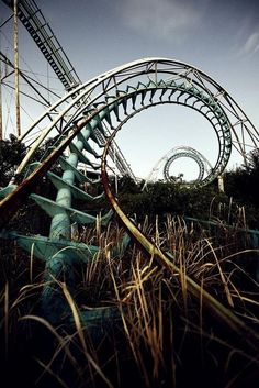 The roller coaster from the rusty ruins is a symbol of rebellion for Shay and Tally and all the other tricky uglies.