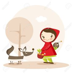 6673669-Little-Red-Riding-Hood-funny-cartoon-illustration-Stock-Vector.jpg (1286×1300)