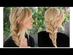 This channel is full of all types of hairstyles. Wearable quick everyday styles, edgy style, to formal updos. You will find all different types of braids and. Dutch Fishtail Braid, Twist Braids, Messy Bun With Braid, Evening Hairstyles, Hair Supplies, Types Of Braids, Side Bangs, Hair Beauty, Beauty Stuff