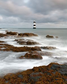 Students tour to North Wales & Snowdonia.. Penmon Lighthouse Anglesey North Wales