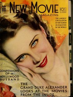The New Movie Magazine, July 1931 - Norma Shearer - cover