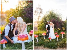 We literally fell off our chairs when we came across this Alice in Wonderland themed wedding photographed by Anna Perevertaylo Photography. The photography is epic, the decor is whimsical and epic and the couple themselves is...well..epic!!! Did we mention this wedding was done for only $6000?…