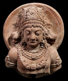 Nice Torso of Vaikuntha Vishnu  North Pakistan Hund? 5th - 6th c. Terracotta 42 cm - 16,5 in high