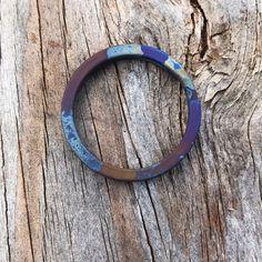Titanium Split Ring - Sandblasted Blue smoke [tisurvival.com/] #Titanium #TiSurvival #TiSurvivalSplitRings #RustProof #SplitRing