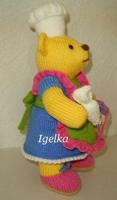 Knitted Toys Animal Knitting Patterns, Christmas Knitting Patterns, Knitting Ideas, Knitted Dolls, Free Pattern, Alan Dart, Crochet Hats, Toys, Rabbit