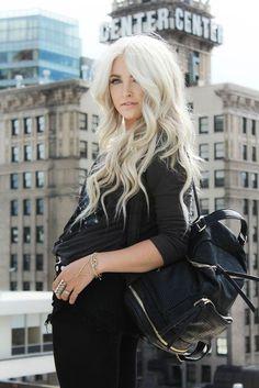 57 Ideas hair color white blonde cara loren for 2019 Winter Hairstyles, Cool Hairstyles, Winter Hair Colour For Blondes, White Blonde Hair, Ice Blonde, Blonde Color, Cara Loren, Platinum Blonde Hair, Dream Hair