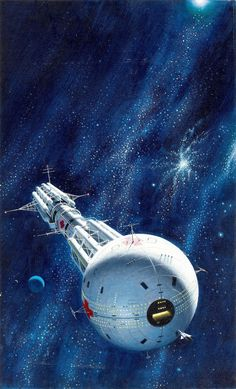 """""""Dean Ellis cover art for """"Hospital Station"""" by James White, Art Science Fiction, Science Art, Science Daily, Science Experiments, Spaceship Art, Spaceship Concept, Space Fantasy, Sci Fi Fantasy, Arte Sci Fi"""