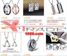 Barang import alibaba Kalung couple titanium