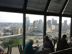 Celestial: Mt. Adams. View of Cincinnati from our table in restaurant. | after dinner drinks and live jazz