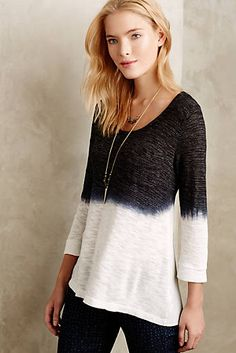 Dip-Dyed Cowl Back Tee