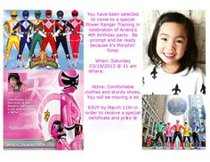 Life is Beautiful: Ana's Power Rangers birthday party