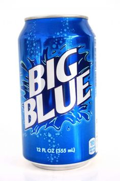 Big Blue soda-not as good as Big Red but still tasty