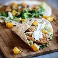 Chicken taco med mangosalsa