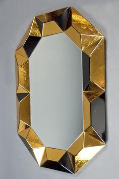 Robert Rida, Octagonal Multifaceted Mirror, 1990