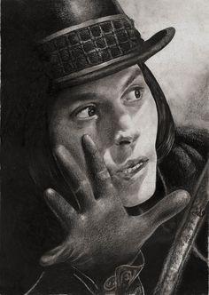 Willy Wonka portrait. Johnny Depp ... c5a5dc540162