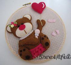 *FELT ART ~ Ursinha ... for Girls!  by sweetfelt \ ideas in felt