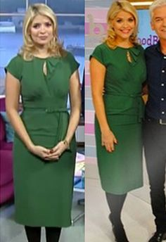 Holly Willoughby in the green Rita Dress