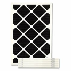 """12 X 20 X 1 Carbon Pleated Filter by Exact Match. $96.90. 12 X 20 X 1 Carbon Pleated Filter (actual size 11-1/2"""" X 19-1/2"""" X 3/4"""") These premium quality odor reduction carbon impregnated pleated filters are interchangeable with existing HVAC filters. The filter provides moderate dust/particulate holding capabilities but does not carry a MERV rating as it's primary function is the control of odors. Odorous gases and vapors are attracted to and held by the u..."""