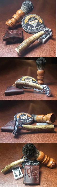 Shaving and Grooming Kits and Sets: Every Knight Forge Stag Safety Razor, Brush And Citrus Soap (Handcrafted In Usa) BUY IT NOW ONLY: $119.95