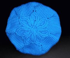 ♥ Mimos de Mãe ♥: Boina Azul Flor