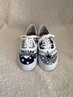 164582561892 Custom Painted Dallas Cowboys Shoes Cowboy Shoes