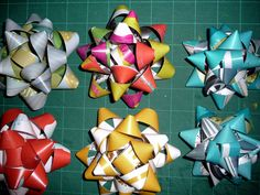 Bows for presents from magazines