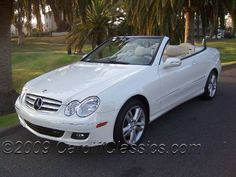 white mercedes benz clk 350 - Arbonne RVP here I come! Mercedes 500, Used Mercedes Benz, Mercedes Benz Convertible, Best Classic Cars, Jaguar E Type, Bus, Car Engine, Volkswagen Golf, Used Cars