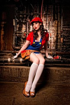 Meagan Marie As Flirty Miss Mario [Cosplay]