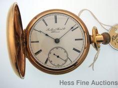 Massive Antique Rockford 18s Men s Pocket Watch half Hunting case Hunter