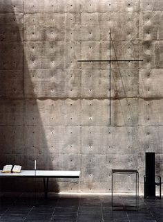 TADAO ANDO: CHAPEL IN MT. ROKKO - The Black Workshop. This is a fabulous use of concrete so that you can really feel the texture just by looking at it