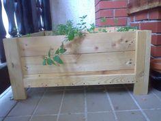 Herbs Planter Box #Box, #Pallet, #Planter, #Upcycled