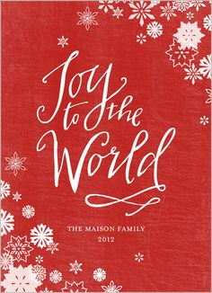 joy to the world religious christmas card shutterfly