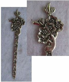 Silver Flowers Hair Stick New Shawl Pin Accessories Fashion http://cgi.ebay.com/ws/eBayISAPI.dll?ViewItem&item=161202749413